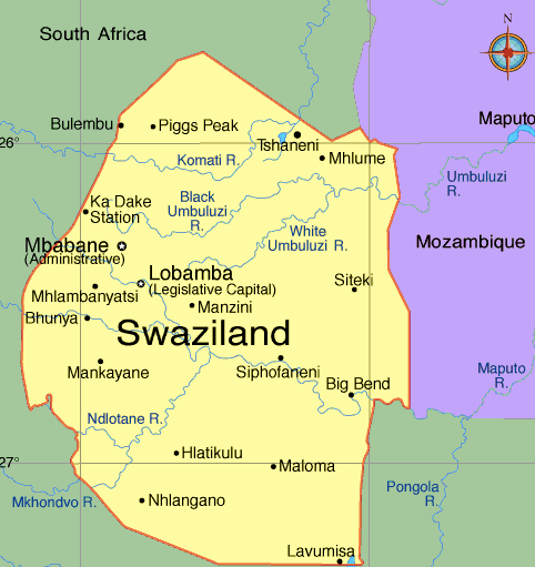 Swaziland map, https://www.infoplease.com/atlas/africa/eswatini-map