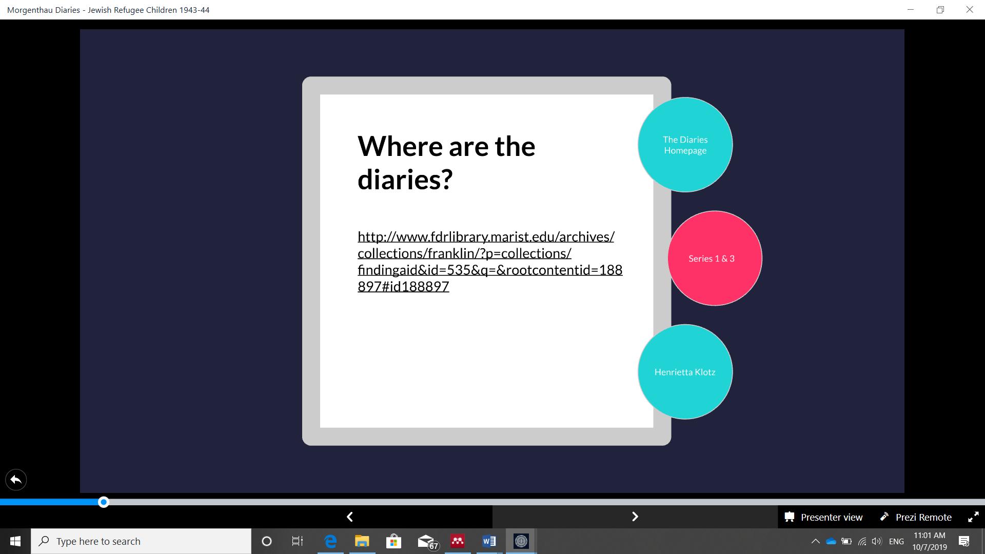 Slide 5, EHRI presentation, how to find the MD