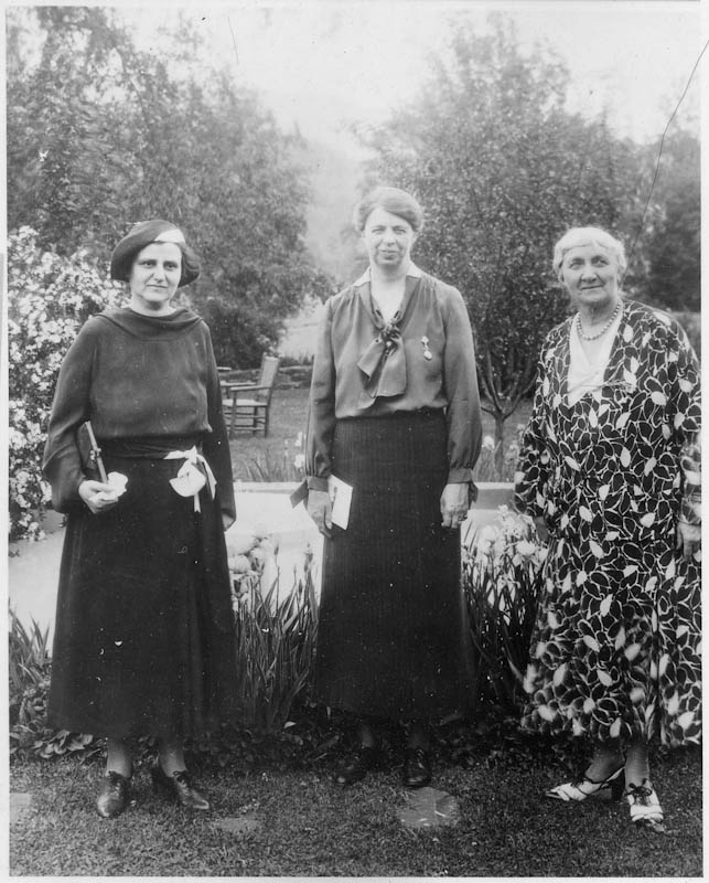 Elinor Morgenthau with Eleanor Roosevelt and Jane Addams in Westport, CT, 1929 Series: Franklin D. Roosevelt Library Public Domain Photographs, 1882 - 1962 Collection: Franklin D. Roosevelt Library Public Domain Photographs, 1882 - 1962 photo ID 7167 NARA Id: 195508